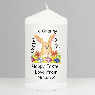 Personalised Easter Candle