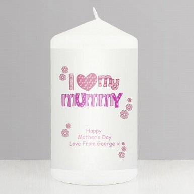 Personalised Pink Patterns I Love My Candle