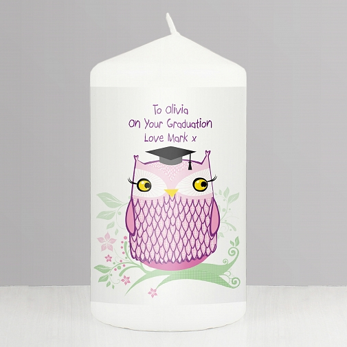 Personalised Miss Owl Candle