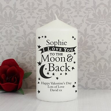 Personalised To the Moon and Back Candle