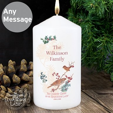 Personalised Country Diary Midwinter Candle