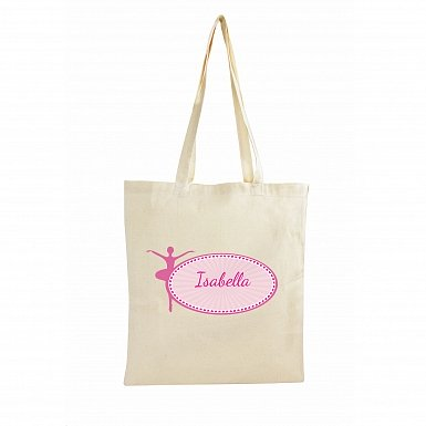 Personalised Ballerina Cotton Bag