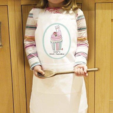 Personalised Vintage Pastel Cupcake Kids Apron