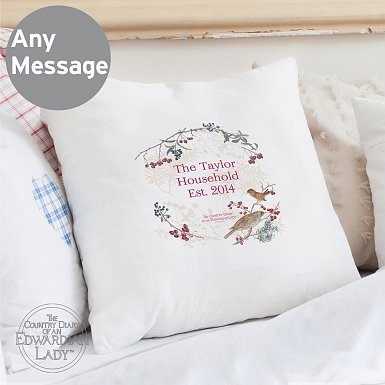 Personalised Country Diary Midwinter Cushion Cover