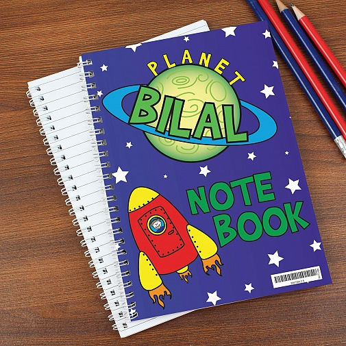 Personalised Space A5 Notebook