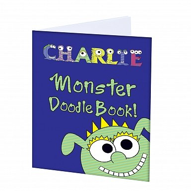 Personalised Little Monster - A4 Scrapbook