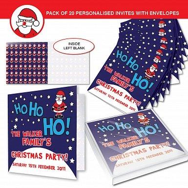 Personalised Christmas Santa Invitations