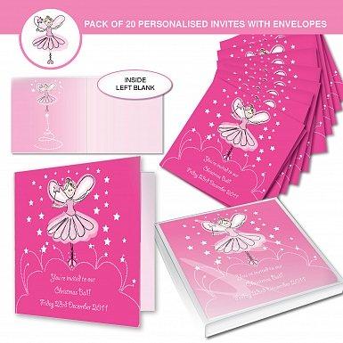 Personalised Christmas Fairy Invitations