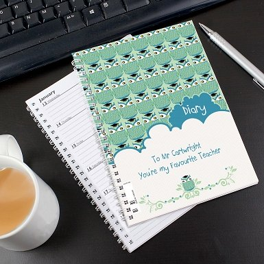 Personalised Mr Owl A5 Diary