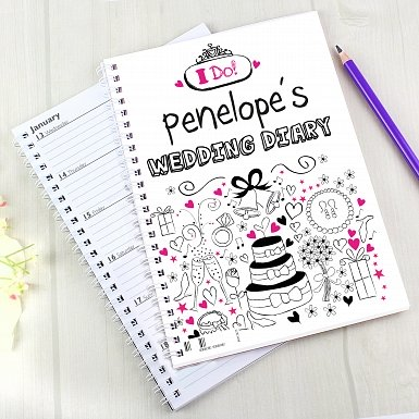 Personalised Wedding A5 Diary