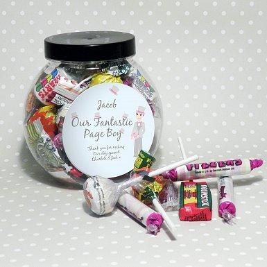 Personalised Fabulous Pageboy Sweet Jar