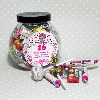 Personalised Big Age Sweet Jar