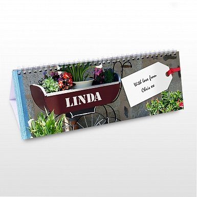 Personalised Gardener Desk Calendar