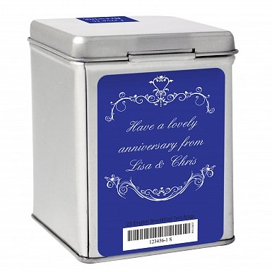Personalised Couples Tea & Tin