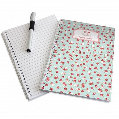 Personalised Vintage Floral A5 Notebook