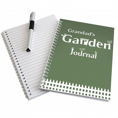 Personalised Garden Journal A5 Notebook
