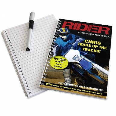 Personalised Rider A5 Notebook