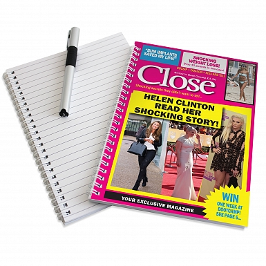 Personalised Close A5 Notebook