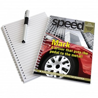 Personalised Speed A5 Notebook