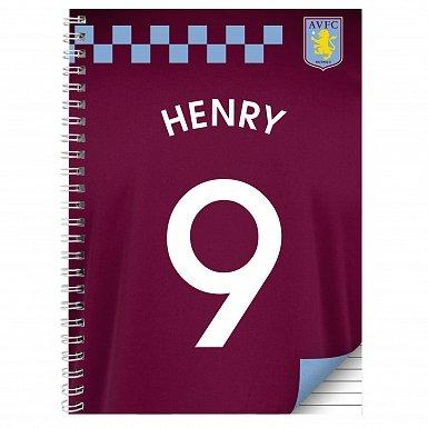 Personalised Aston Villa A5 Notebook