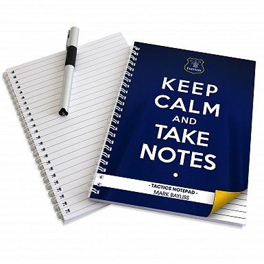 Personalised Everton Keep Calm A5 Notebook