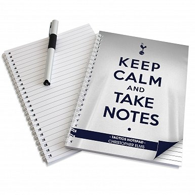 Personalised Tottenham Hotspur Keep Calm A5 Notebook