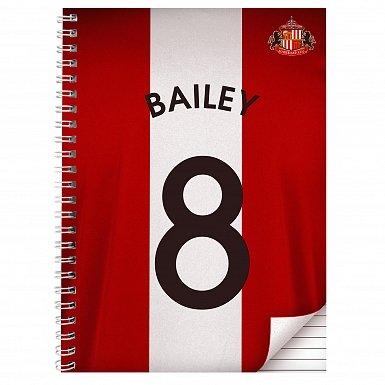 Personalised Sunderland A4 Notebook
