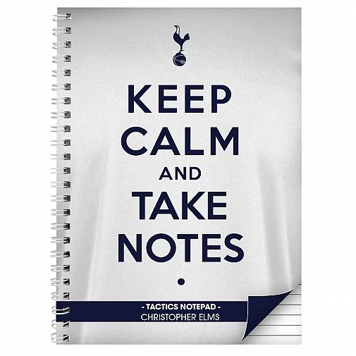 Personalised Tottenham Hotspur Keep Calm A4 Notebook