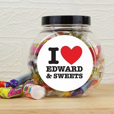 Personalised I HEART Sweet Jar