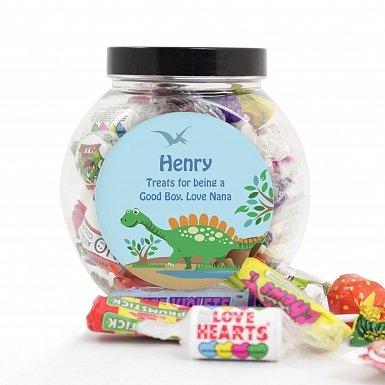 Personalised Dinosaur Sweets Jar