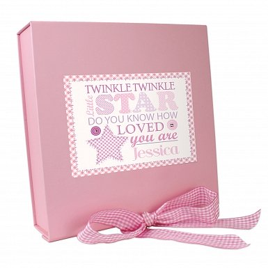 Personalised Twinkle Girls Pink Gift Box