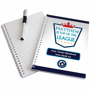 Personalised Top of the League A5 Notebook