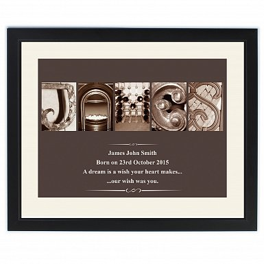 Personalised Affection Art Framed Print