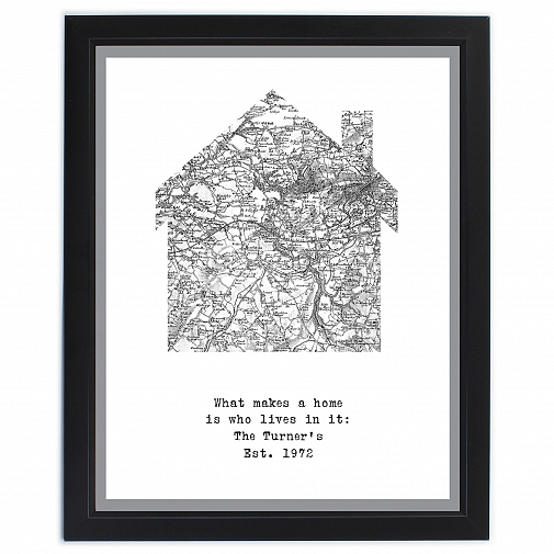 Personalised 1805 - 1874 Old Series Map Home Framed Print