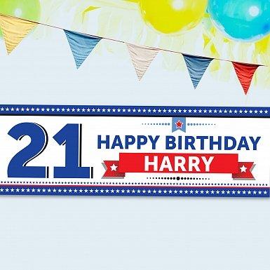 Personalised Birthday Star Banner