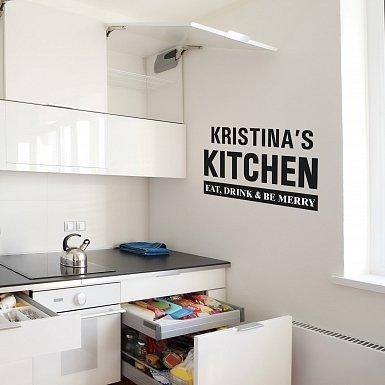 Personalised Kitchen Wall Art