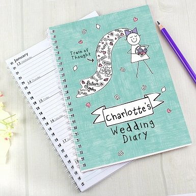 Personalised Purple Ronnie Bride Wedding Diary