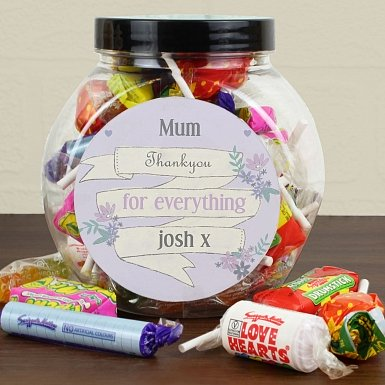 Personalised Garden Bloom Sweets Jar