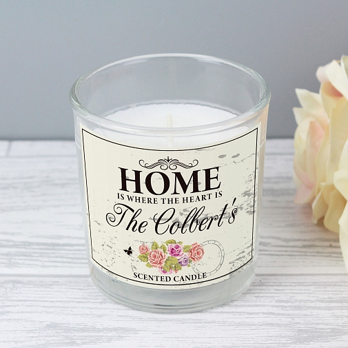 Personalised Shabby chick Scented Jar Candle
