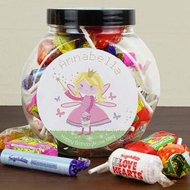 Personalised Garden Fairy Sweets Jar
