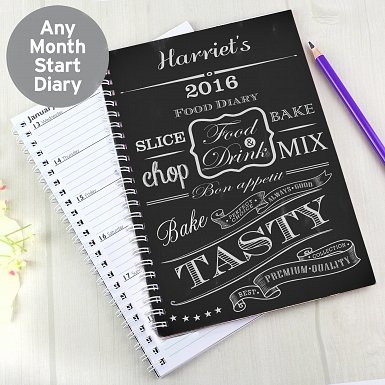 Personalised Recipes A5 Diary