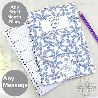 Personalised Country Diary Blue Blossom A5 Diary