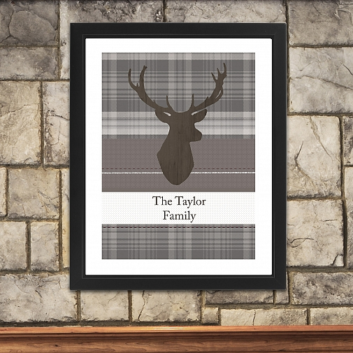 Personalised Highland Stag Poster Frame