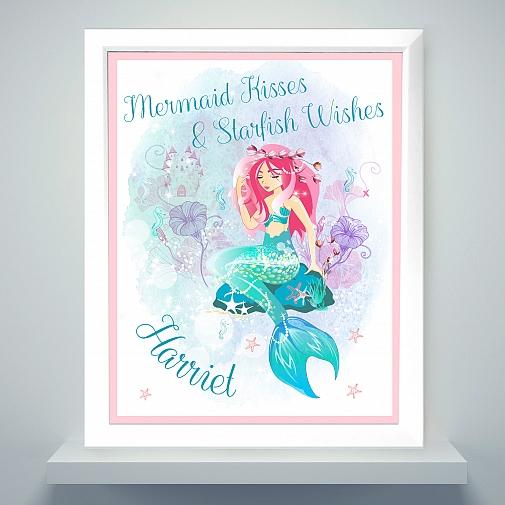 Personalised Mermaid Poster Frame