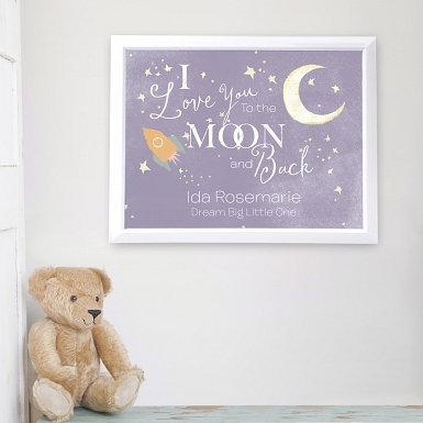 Personalised To the Moon and Back Poster Frame UK [United Kingdom]