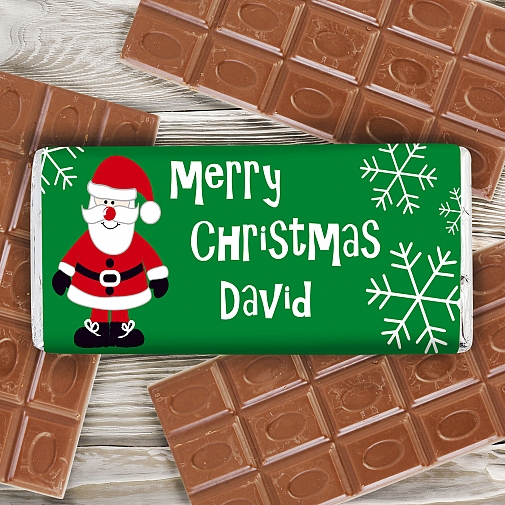 Father Christmas Chocolate Bar