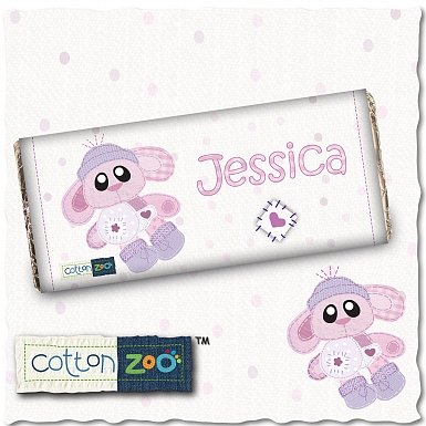 Personalised Cotton Zoo Bobbin the Bunny Milk Chocolates Bar