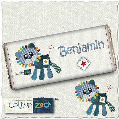 Personalised Cotton Zoo Denim the Lion Milk Chocolates Bar
