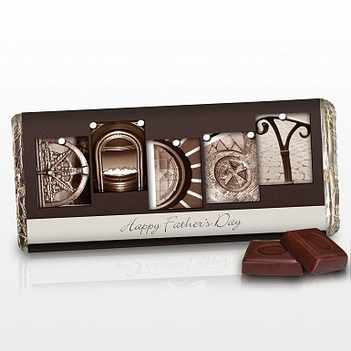Personalised Affection Art Daddy Milk Chocolates Bar