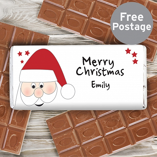 Personalised Santa Milk Chocolates Bar